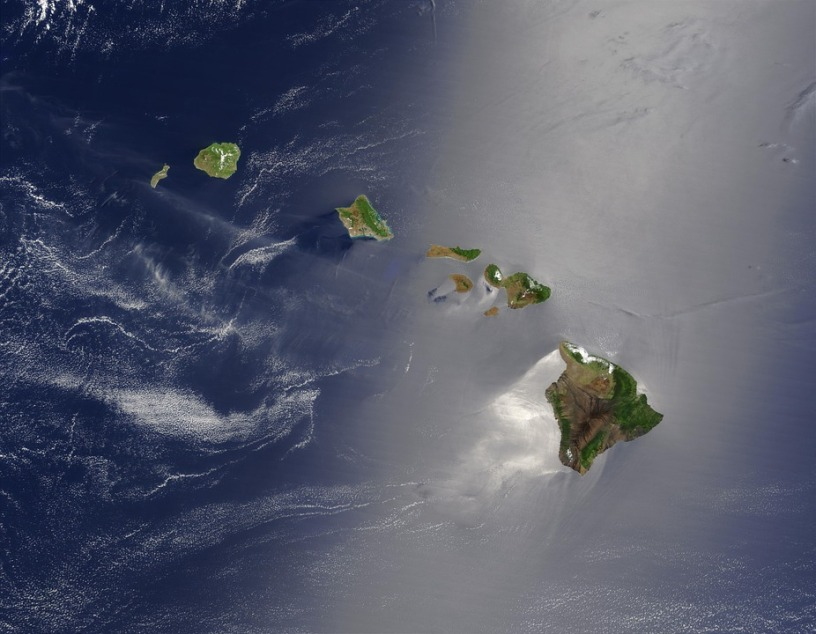 Hawaii viewed from space